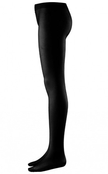 Tights With Foot Black Size Xl