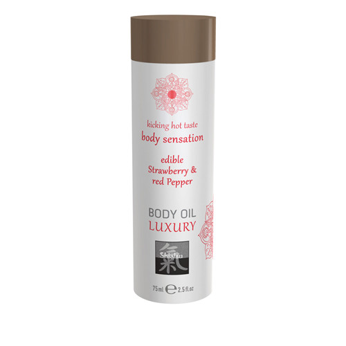 Luxury Body Oil Edible - Strawberry & Red Pepper