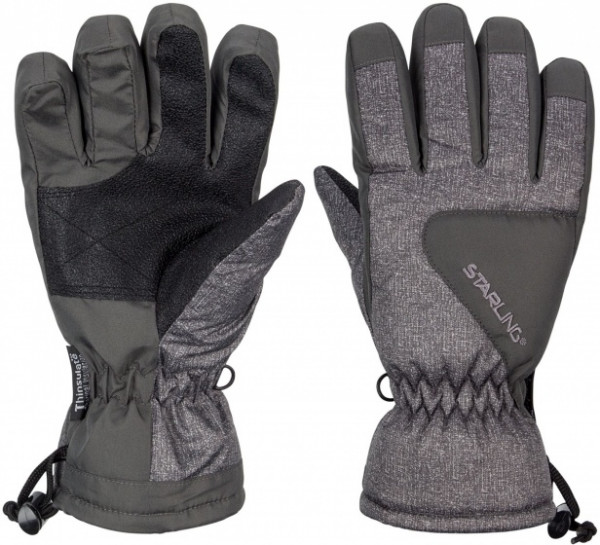 Ski Gloves Taslan Riva Jr Gray Size 4,5 / 128