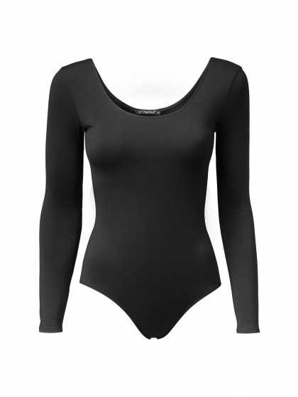 Ballet Suit With Long Sleeve Ladies Black Size Xxl