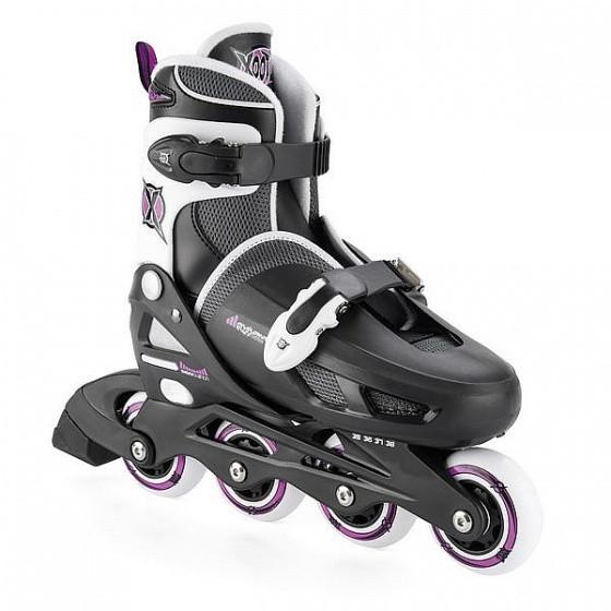 Inline Skates Quad Black / Purple Junior Size 30-34