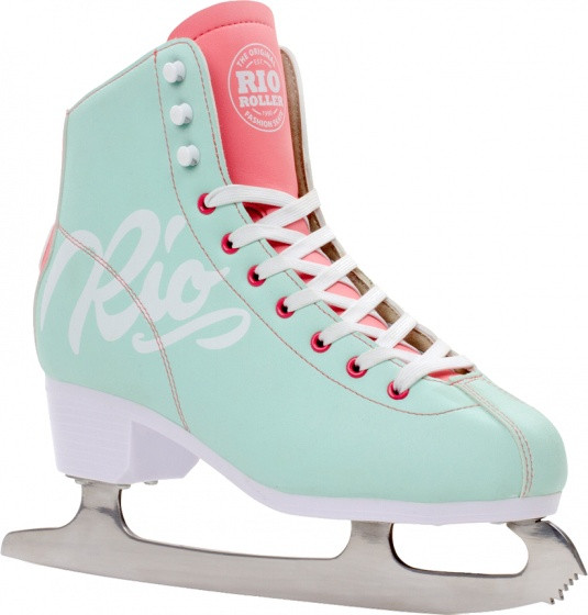 Figure Skating Script Rio Roller Ladies Mint Green Size 40,5