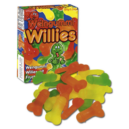 Jelly Willies Fruit Gummies In Penis Shape 150 G
