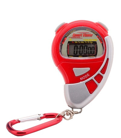Stopwatch Sports Active With Alarm Red