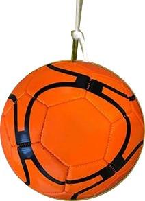 Kopgalgbal Kunstleder Orange Size 5