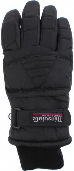 Ski Gloves Ladies Polyester Black Size Xl