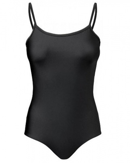 Ballet Suit Pinched Spaghetti Strap Ladies Black Size M