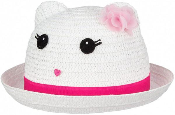 Junior Fiësta Straw Hat Girls White / Pink