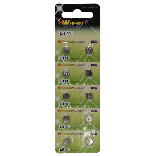 Button cell batteries 10 pcs blister Lr41