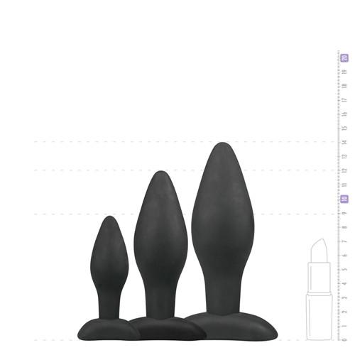 Black Silicone Buttplug Set