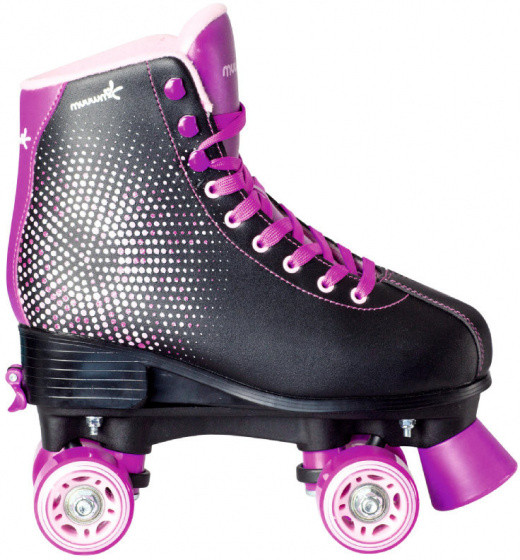Roller Skates Discojunior Artificial Leather Black/Lilac Size 31-34