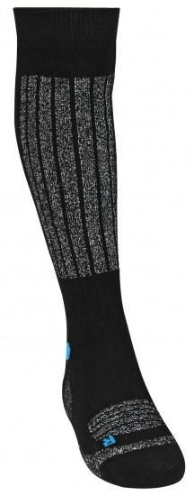 Skisocks 2 Pair Unisex Black/Grey/Blue Size 35/38